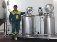 MS 01 mobile station for cleaning and disinfection Microbrewery 01
